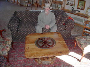 Chet Cale setting with the Bentley coffee table.