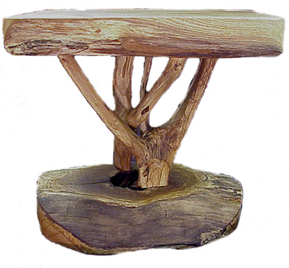 Chunky elegant tree end table - RE: