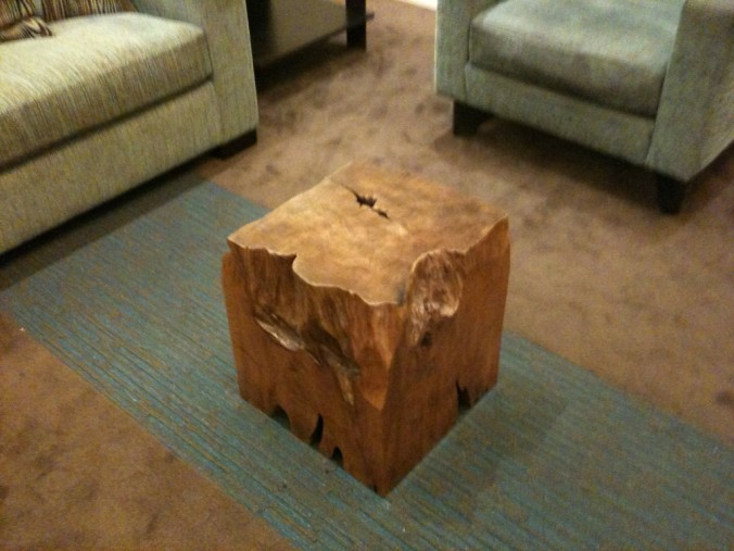 Beau The Chisel Edged Block Stump Table