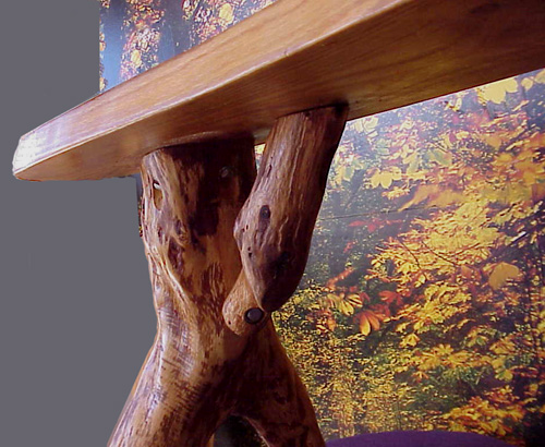 Tree bench - we pride ourselves on tight joinery.