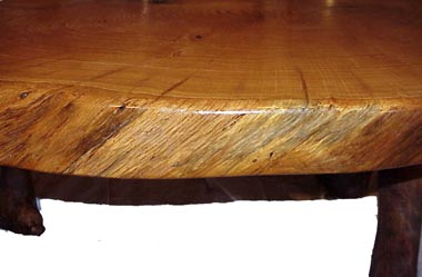 Natural edging. The edge of the log highly finished.