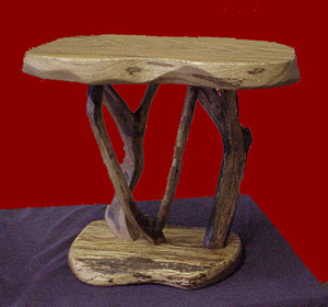 Free formed tree end table _ RE: Donnies end table