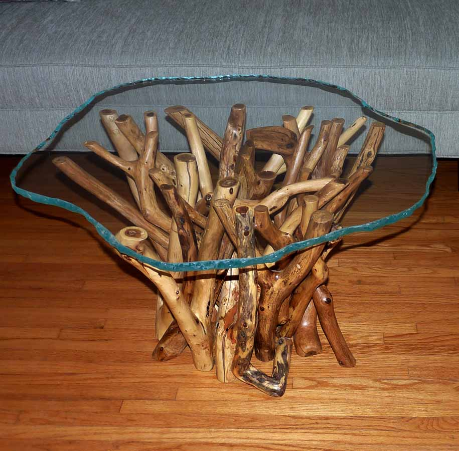 Our tangled root table designs for foyer dining and coffee tables