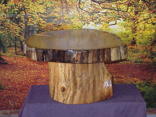 Rustic coffee tables unique and handmade from the log for Stump furniture making