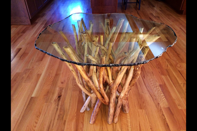 Rustic Furniture Glass Top Tables