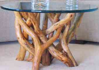 tangle root coffee tabe or end table - 3/4 in. top