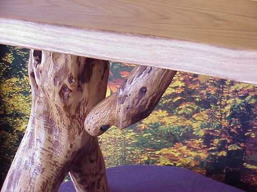 tree bench of solid oak