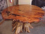 Large burl top - root base tables -