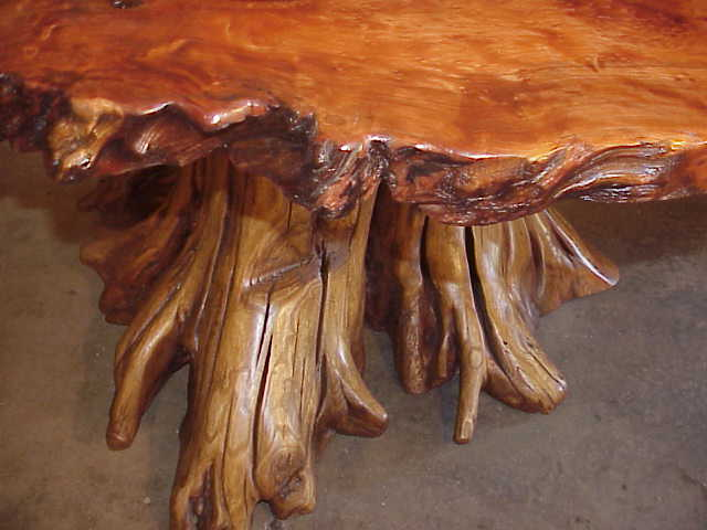 Finishing up on this large burl slab table. click for more.