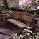Rustic spalted oak bench. by Just